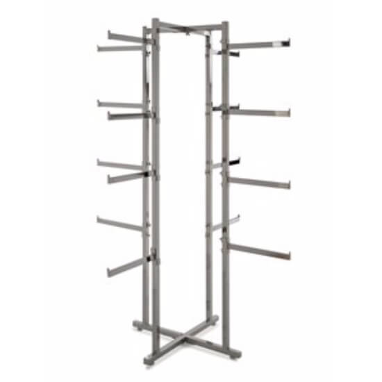"buy 4 Way Lingerie Rack W/16 Round 12"" Arms"